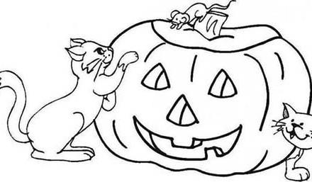 Coloriages-Citrouilles-Halloween-Coloriage-de-la-citrouille-et-des-chats.jpg