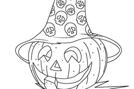 Coloriages-Citrouilles-Halloween-Coloriage-dune-citrouille-avec-un-chapeau-de-sorciere.jpg