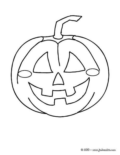 Coloriage citrouilles halloween citrouille qui sourit a - Calabaza halloween para colorear ...