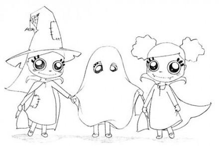 Coloriages-Enfants-deguises-pour-Halloween-Coloriage-des-sorcieres-et-du-fantome.jpg