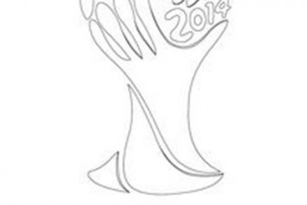 coloriages de coupe du monde de foot logo
