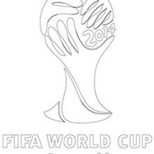 Coloriage de coupe du monde de foot logo de la coupe du monde 2014 - Coloriage de logo de foot ...