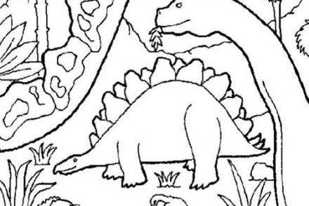 Coloriages-de-Dinosaures-Dinosaures-dans-un-musee.jpg