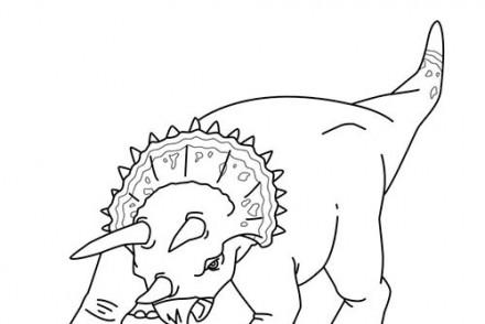 Coloriages-de-Dinosaures-Triceratops-a-lattaque.jpg