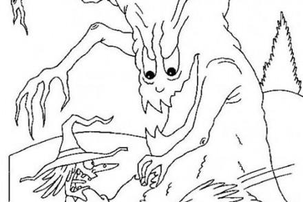 Coloriages-de-Sorcieres-dHalloween-Sorciere-effrayee-par-un-arbre-magique.jpg