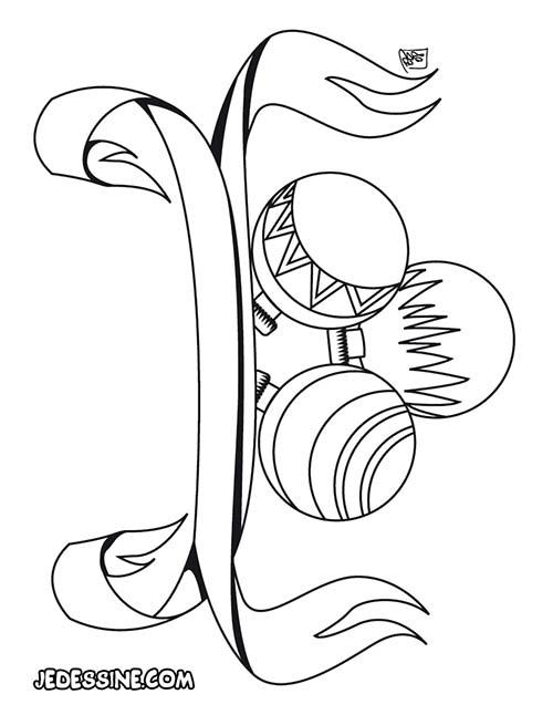 Coloriage de decorations de noel coloriage de boules de - Decoration de noel dessin ...