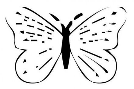 Coloriage de papillons papillon kawaii - Dessin papillon a decouper ...