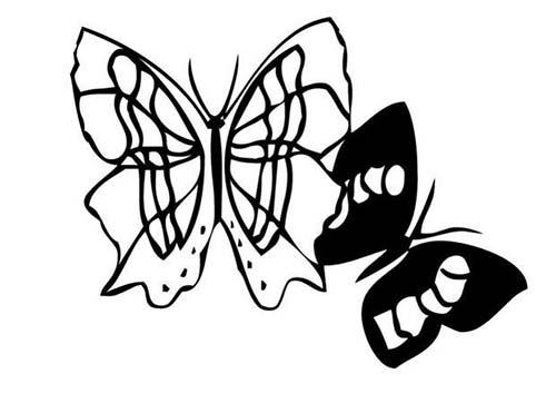 Coloriage de papillons coloriage d 39 un papillon n 2 - Dessin d un papillon ...
