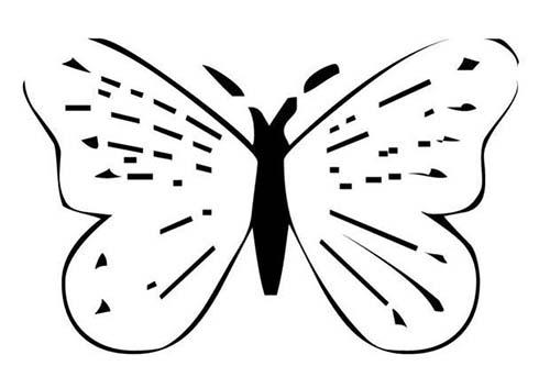 Coloriage de papillons coloriage d 39 un papillon n 21 - Coloriage d un papillon ...