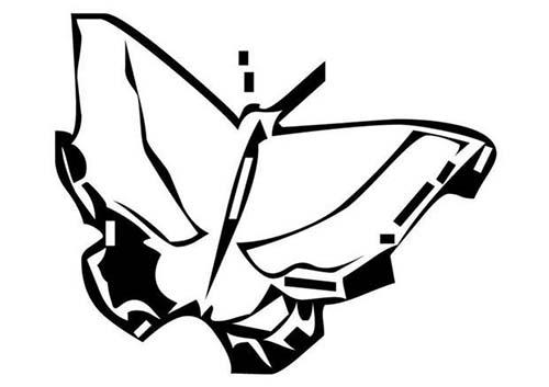 Coloriage de papillons coloriage d 39 un papillon n 25 - Dessin d un papillon ...