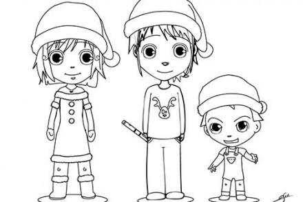 Coloriages-des-enfants-de-Noel-Coloriage-dAna-Mat-et-Teo.jpg