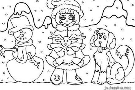 Coloriages-des-enfants-de-Noel-Coloriage-dun-enfant-sous-les-flocons-de-neige.jpg