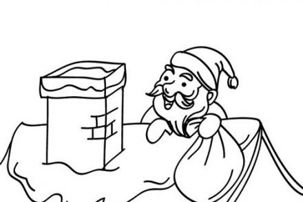 Coloriages-du-Pere-Noel-Coloriage-Pere-Noel-sur-le-toit.jpg