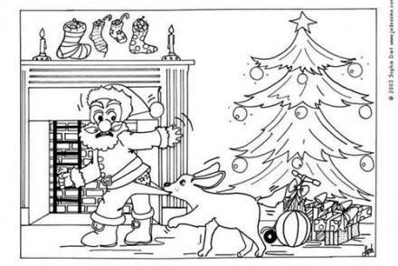 Coloriages-du-Pere-Noel-Coloriage-du-Pere-Noel-attaque-par-un-chien.jpg