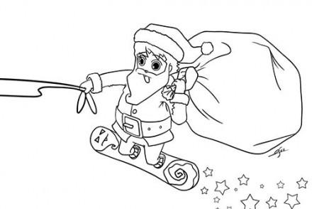 Coloriages-du-Pere-Noel-Coloriage-du-Pere-Noel-sur-un-surf.jpg