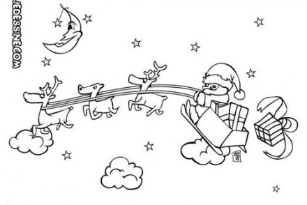 Coloriages-du-Pere-Noel-Le-traineau-du-pere-Noel-dans-le-ciel.jpg