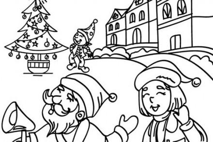 Coloriages-du-Pere-Noel-Papa-Noel-au-village-a-imprimer.jpg