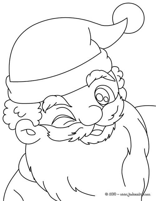 Coloriage du pere noel papa noel clin d 39 oeil a imprimer - Petit pere noel a imprimer ...