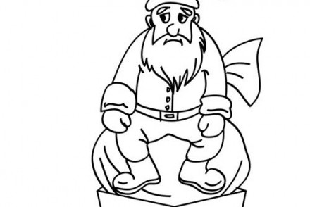 Coloriages-du-Pere-Noel-Papa-Noel-coince-cheminee-a-colorier.jpg