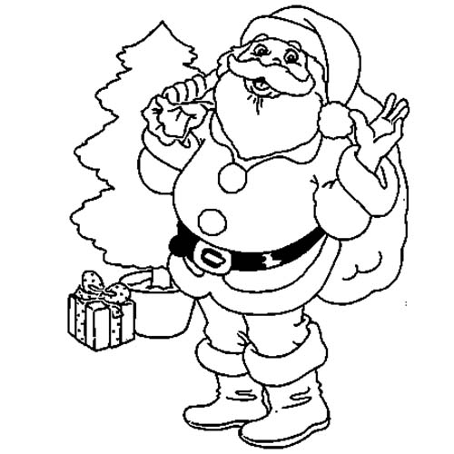 Papa noel coloriage quotesdelivered - Coloriage de noel a imprimer gratuitement ...