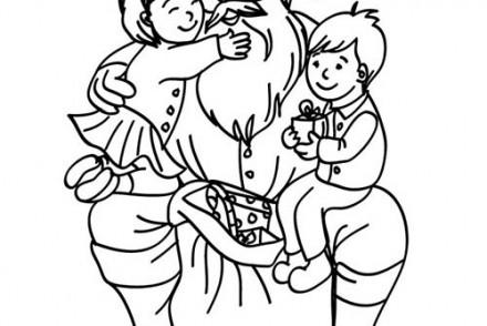 Coloriages-du-Pere-Noel-Papa-Noel-et-les-enfants-a-imprimer.jpg