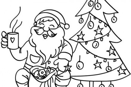 coloriage du pere noel portrait pere noel a imprimer. Black Bedroom Furniture Sets. Home Design Ideas
