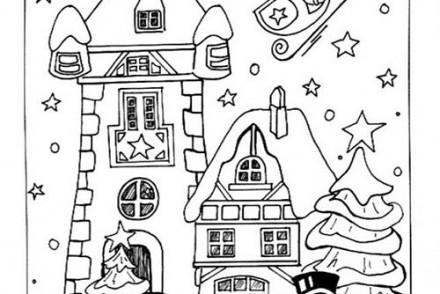 Coloriages-du-Pere-Noel-Santa-Claus-quitte-le-village-de-Noel.jpg