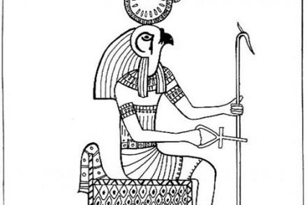 Coloriages-egypte-Re-Horakhty-avec-une-croix-de-vie.jpg