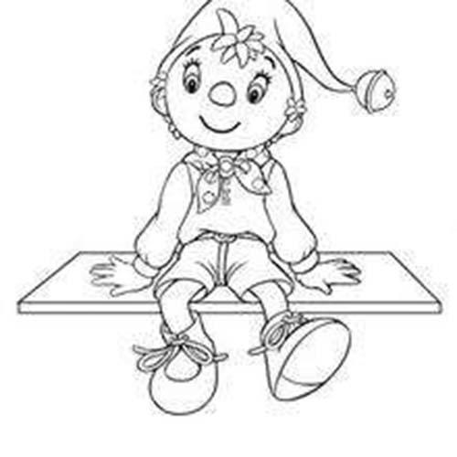 Coloriage colorier le personnage de oui oui coloriage de - Dessin bonhomme assis ...