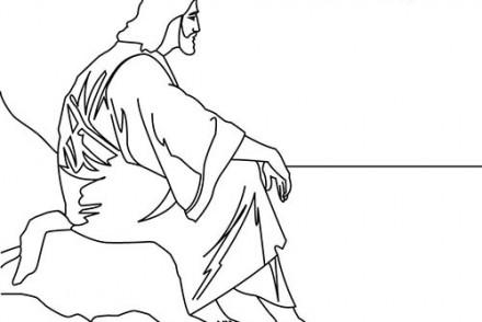 Fete-religieuse-de-Paques-Coloriage-de-Jesus-Christ-contemplatif.jpg