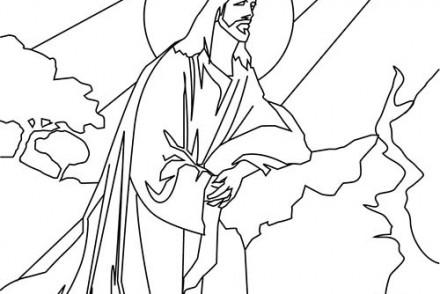 Fete-religieuse-de-Paques-Coloriage-de-Jesus-Christ-dans-la-lumiere-de-Dieu.jpg