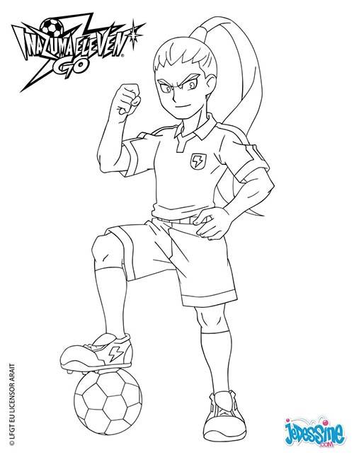 Coloriage inazuma eleven go nishiki avec le ballon - Dessin anime de inazuma eleven ...