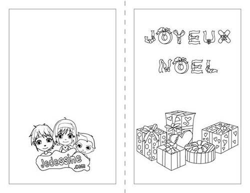 Coloriage joyeux noel a colorier les animaux de noel - Carte de noel a colorier ...