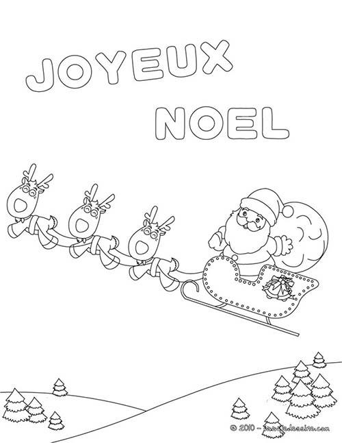 Coloriage joyeux noel a colorier traineau joyeux noel a - Joyeux noel coloriage ...