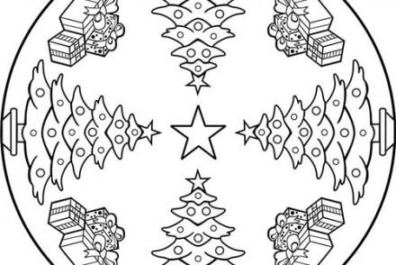 Coloriage MANDALAS de Noel Coloriage de Mandala N 119