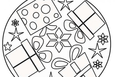 coloriage mandalas de noel mandala du pere noel a colorier. Black Bedroom Furniture Sets. Home Design Ideas