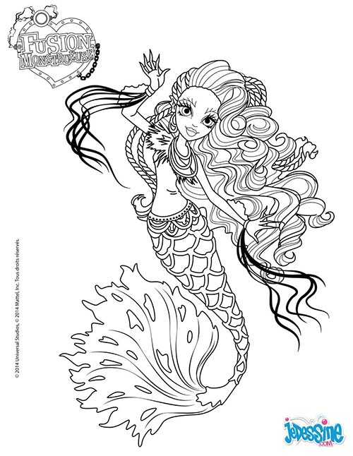 Coloriage monster high fusion monstrueuse sirena von boo - Coloriages monster high a imprimer ...