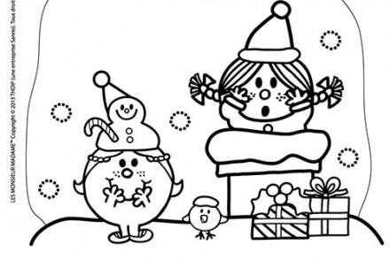Coloriage monsieur madame imprimer 1001 - Coloriage mr mme ...