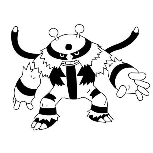 Coloriage dessin a imprimer du pokemon elekable - Pokemon elektek ...