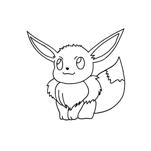 Coloriage dessin a imprimer du pokemon evoli - Dessin de rayquaza ...