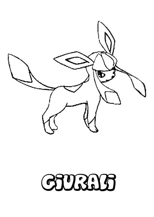 Coloriage dessin a imprimer du pokemon givrali - Dessins pokemon ...