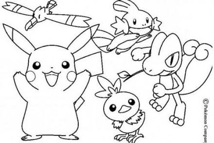 dessin-a-imprimer-du-Pokemon-Goelise-PikachuGobou-Poussifeu-Arcko.jpg
