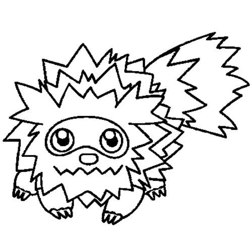 Coloriage dessin a imprimer du pokemon medhyena en - 1001 coloriages ...