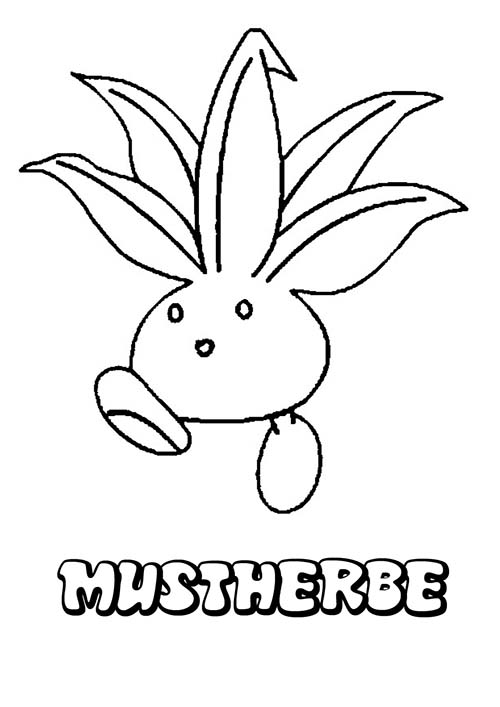 Coloriage dessin a imprimer du pokemon mystherbe - Coloriage carte pokemon ...