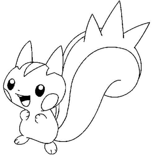Coloriage dessin a imprimer du pokemon pachirisu - Dessins pokemon ...