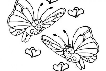 dessin-a-imprimer-du-Pokemon-Papilusion-amoureux.jpg