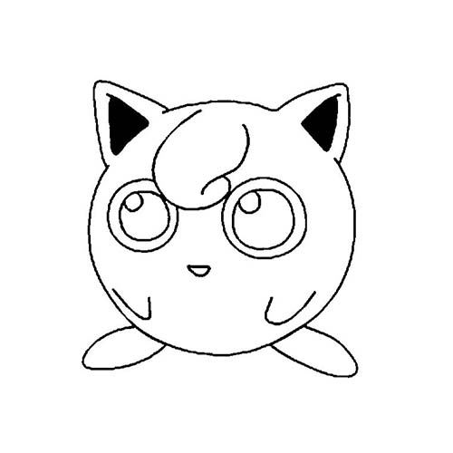 Coloriage dessin a imprimer du pokemon rondoudou - Dessin pokemon facile ...